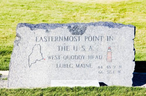Marker at Quoddy Head State Park